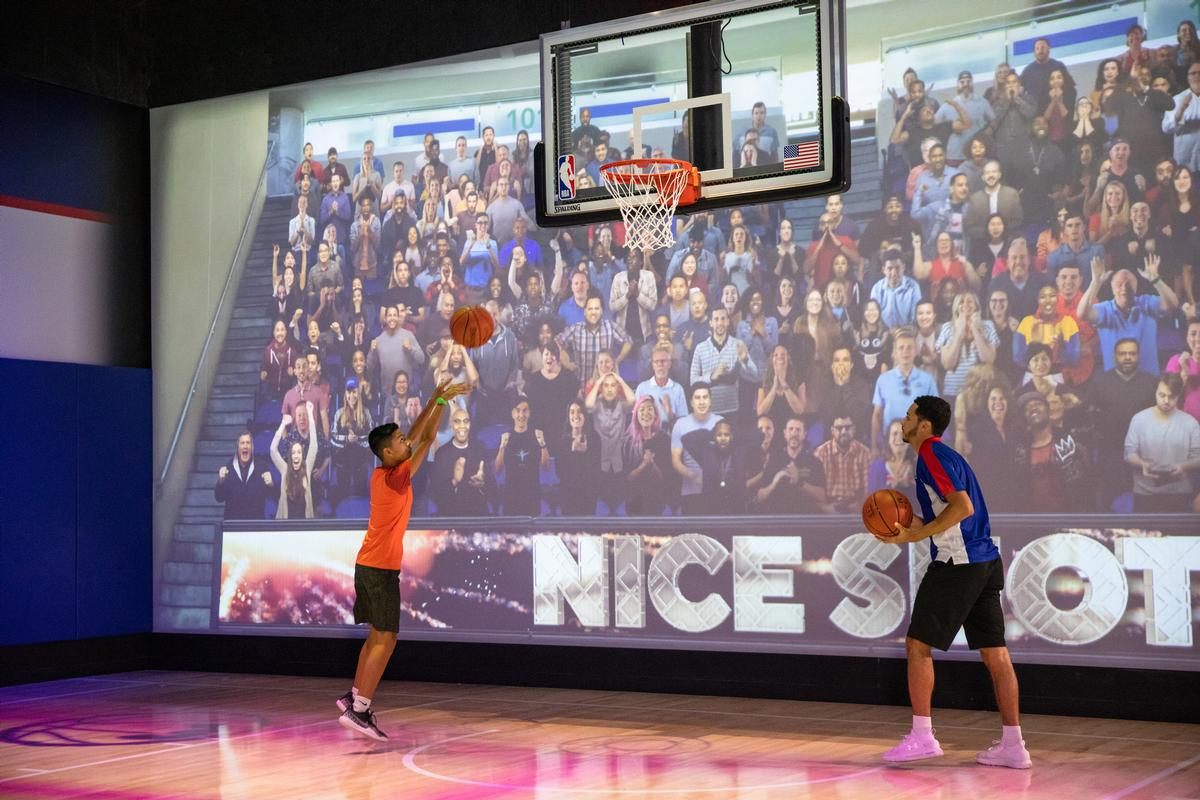Fans will be able to show off their skills, scoring with clutch shots and slam dunks