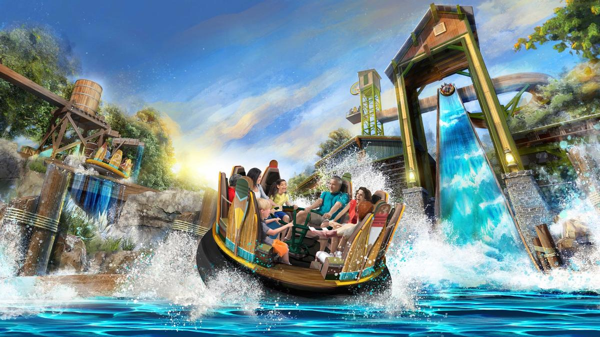 Mystic River Falls features eight-person rafts and 'the tallest drop in the Western Hemisphere' / Silver Dollar City
