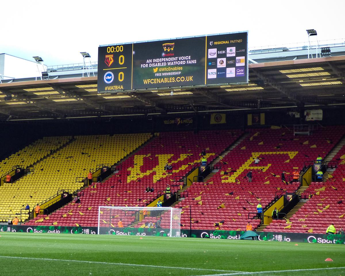 The 'superwide' screens offer fans a clear view of the action, as well as provide a better perspective of the match.