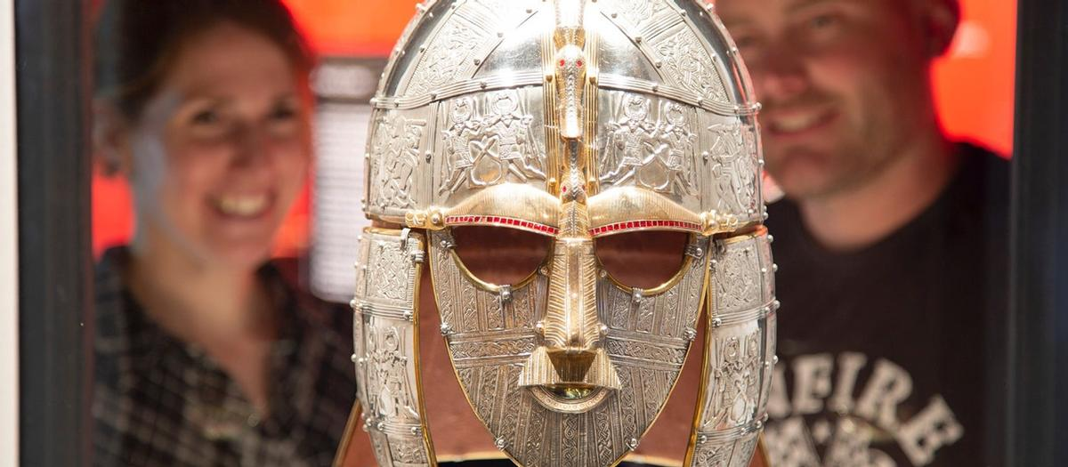 The iconic helmet discovered at the Sutton Hoo burial site in 1939 is now at the British Museum / National Trust