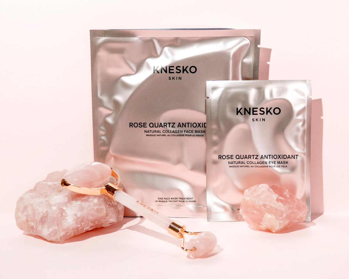 The masks are designed to combat environmental damage to the skin using semi-precious gemstones as active ingredients