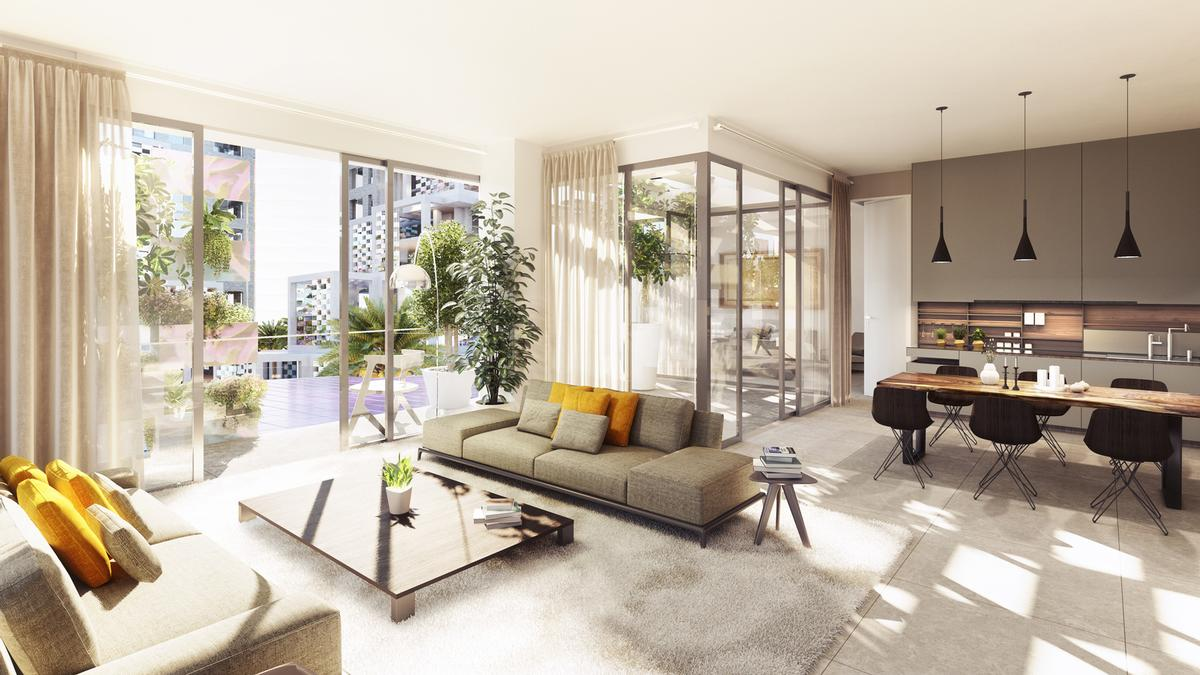 The 525 apartments range from studios to spacious three-bedroom homes