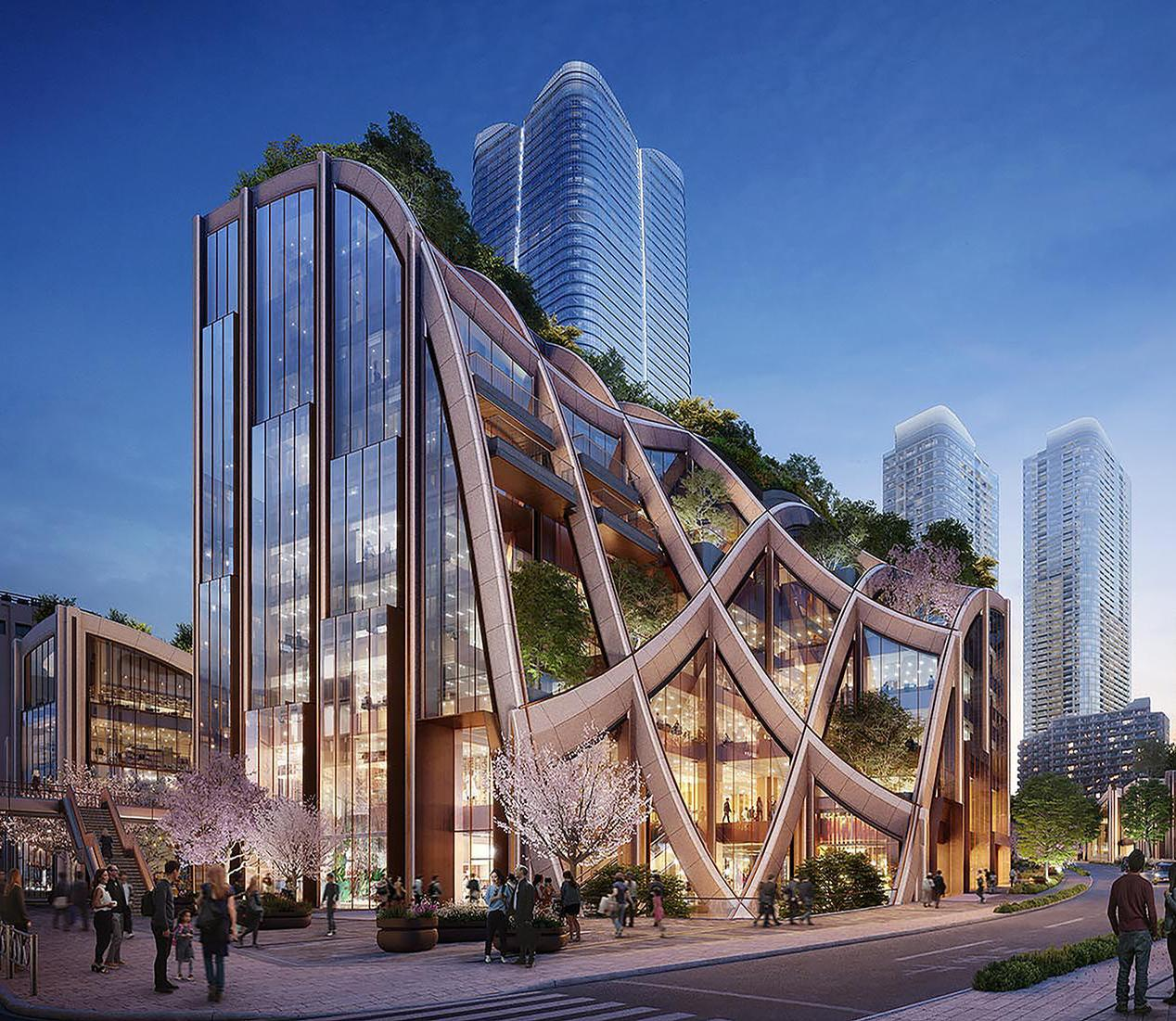 Heatherwick's designs for the Tokyo project include a landscaped, giant 'pergola'