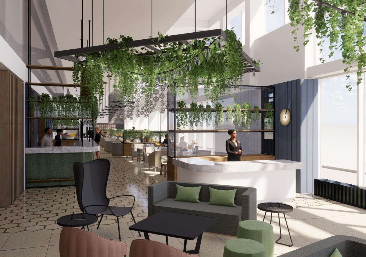 Work has begun on a renovation of The Apex Quay Hotel & Spa's public spaces including its spa and reception areas