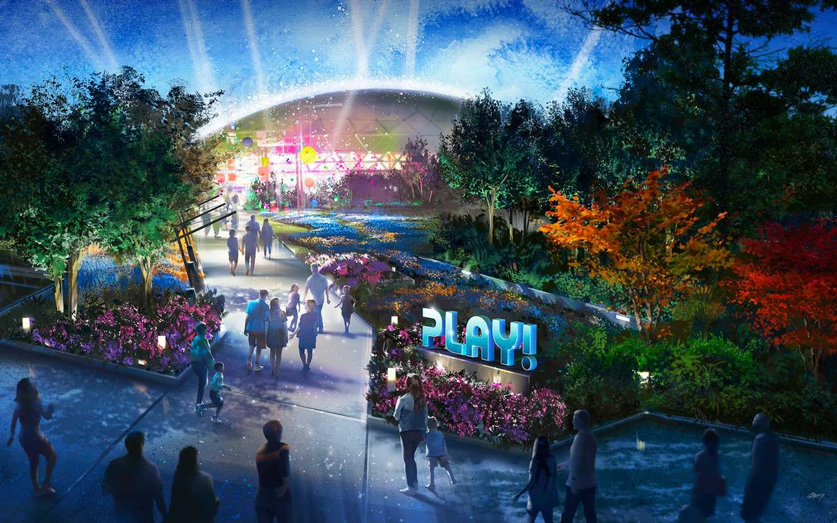 The Play! pavilion will be an interactive city full of games, activities and experiences