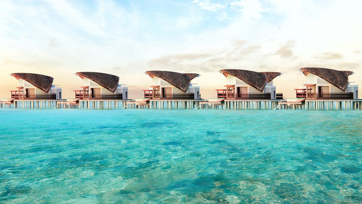 A further 32 villas will stand on stilts over the Laccadive Sea