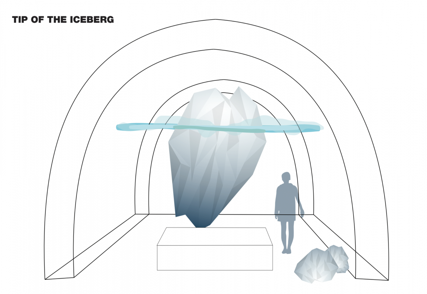 'Tip of The Iceberg' created by Franziska Agrawal