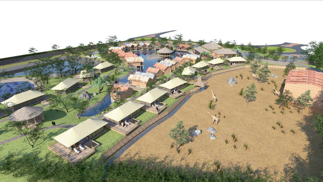 The plans will also include an option for the zoo to develop overnight accommodation which would incorporate an additional 42 traditional discreet African-themed lodges