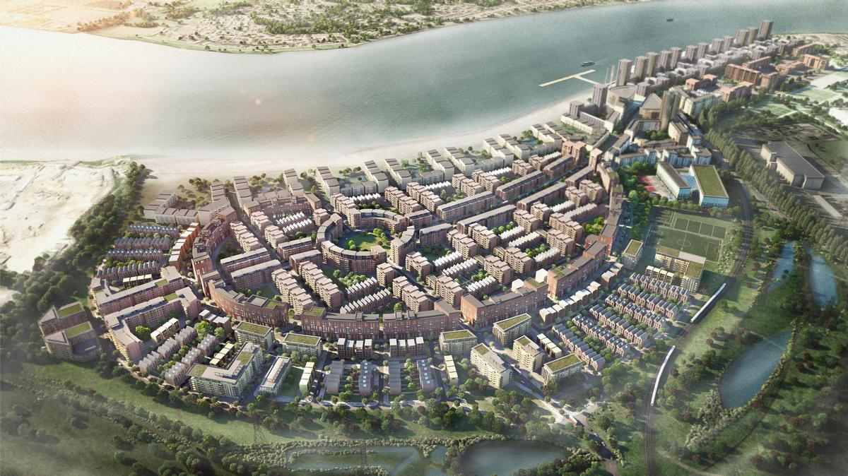 Barking Riverside project – one of the UK's most significant housing developments – is among the 10 Healthy New Towns