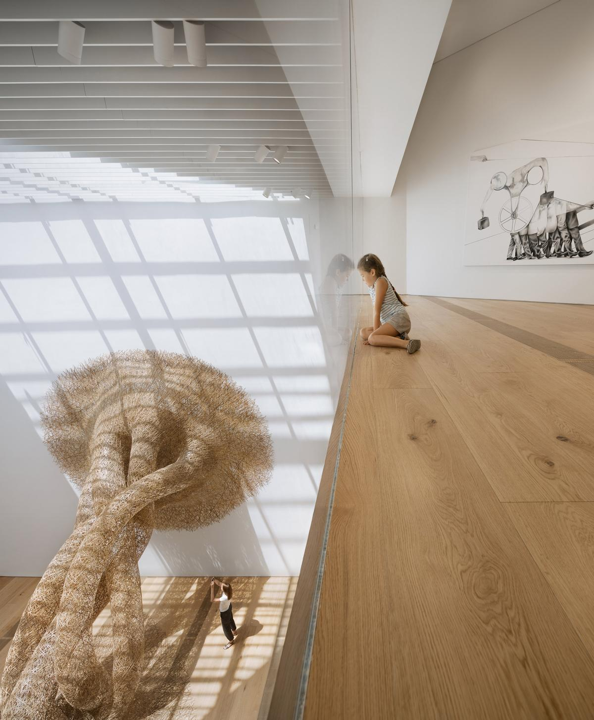 One of the first exhibits is a temporary installation by Japanese bamboo artist Tanabe Chikuunsai IV / NAARO