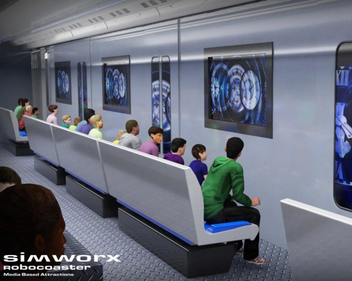 Simworx' new ride, Metro of Time, takes guests on a thrilling adventure through time