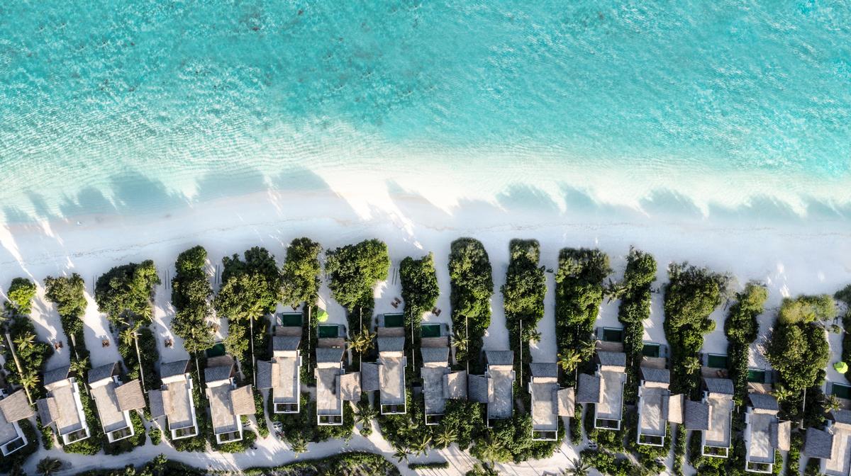 The property boasts 120 villas.