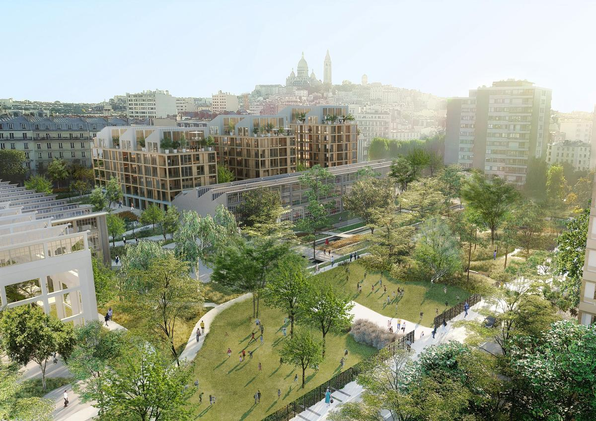 The Ordener-Poissonniers development will cover 36,500sq m (392,900sq ft) / SLA/Biecher Architectes/Emergie/Ogic