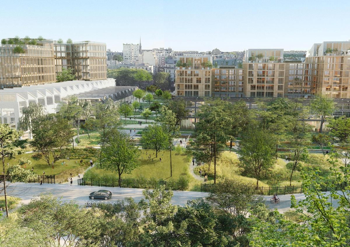 The Ordener-Poissonniers development will be home to 1,000 new residents / SLA/Biecher Architectes/Emergie/Ogic