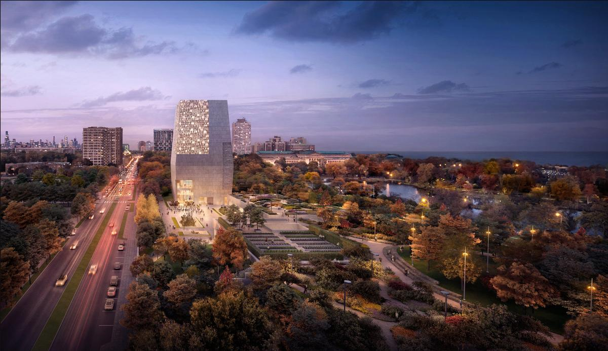 The design for the Obama Presidential Center Chicago, Illinois / Image by DBOX