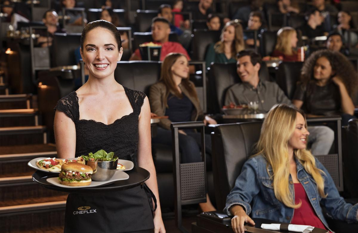 VIP Cinemas feature luxury auditoriums and food and drink delivered to movie-goers' seats / Cineplex