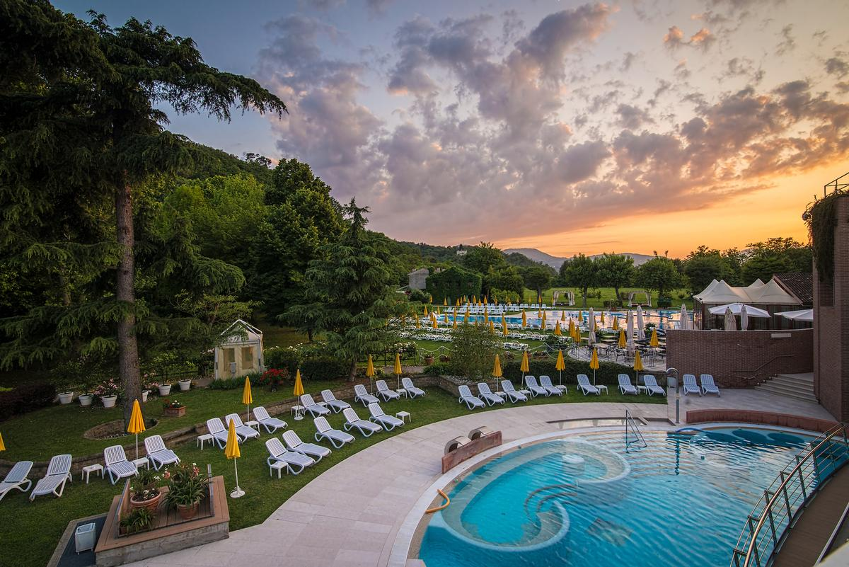 The1,200sq m spa is in addition to the two outdoor thermal pools and the two indoor covered pools / Chiara Grossi
