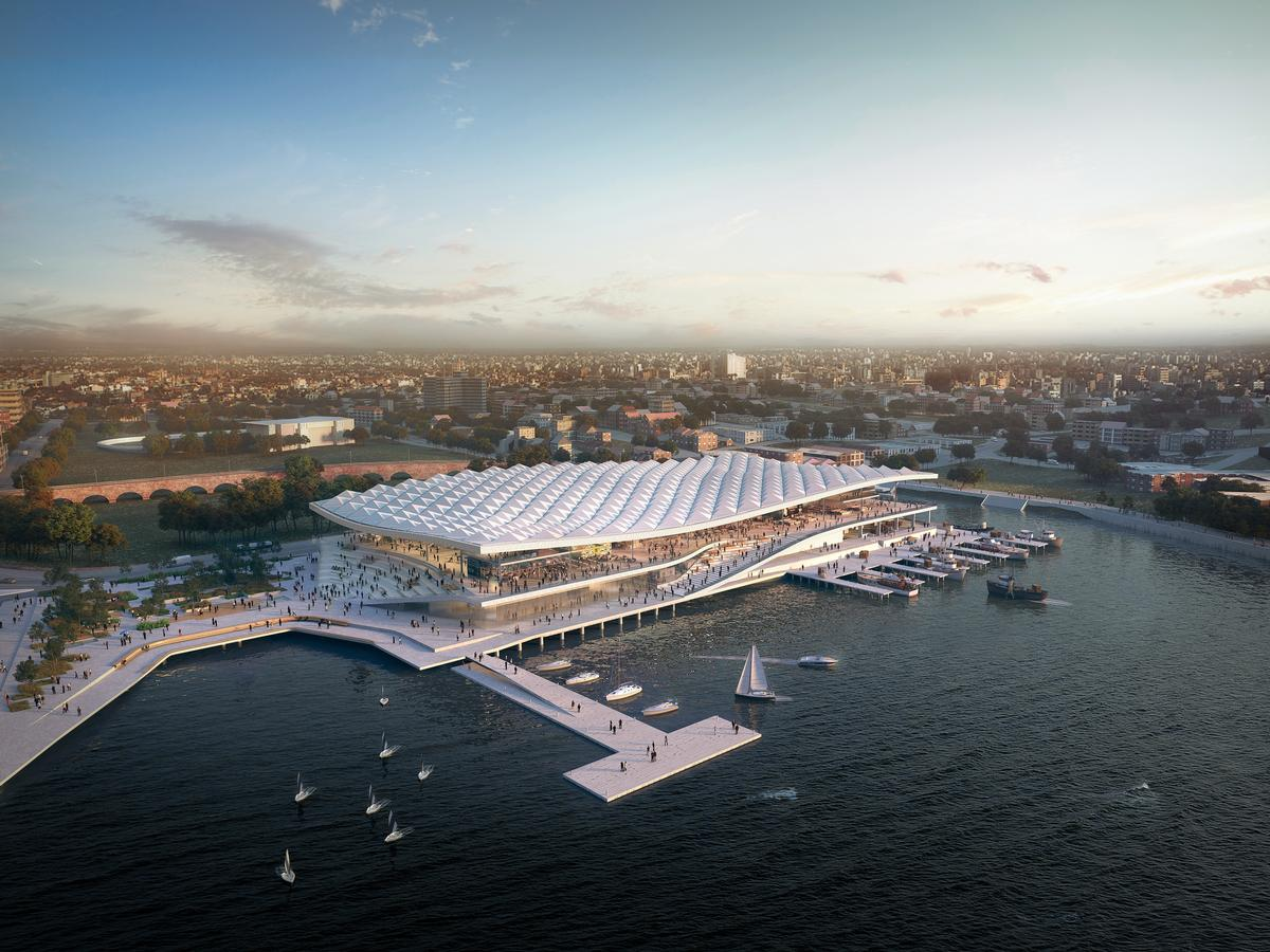 The market will move from its existing location in Pyrmont to the adjacent Blackwattle Bay in Sydney Harbour / 3XN Architects