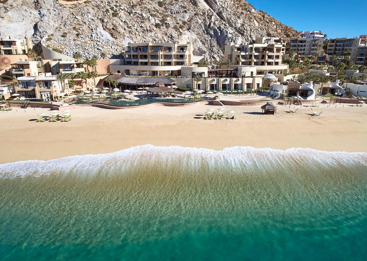 The resort sits at the southernmost tip of the Baja California Peninsula in Mexico and is only accessible through a private tunnel / Hilton