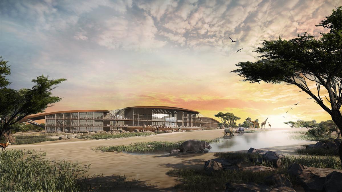 An artist's impression of the future Monarto Safari Park / Zoos SA