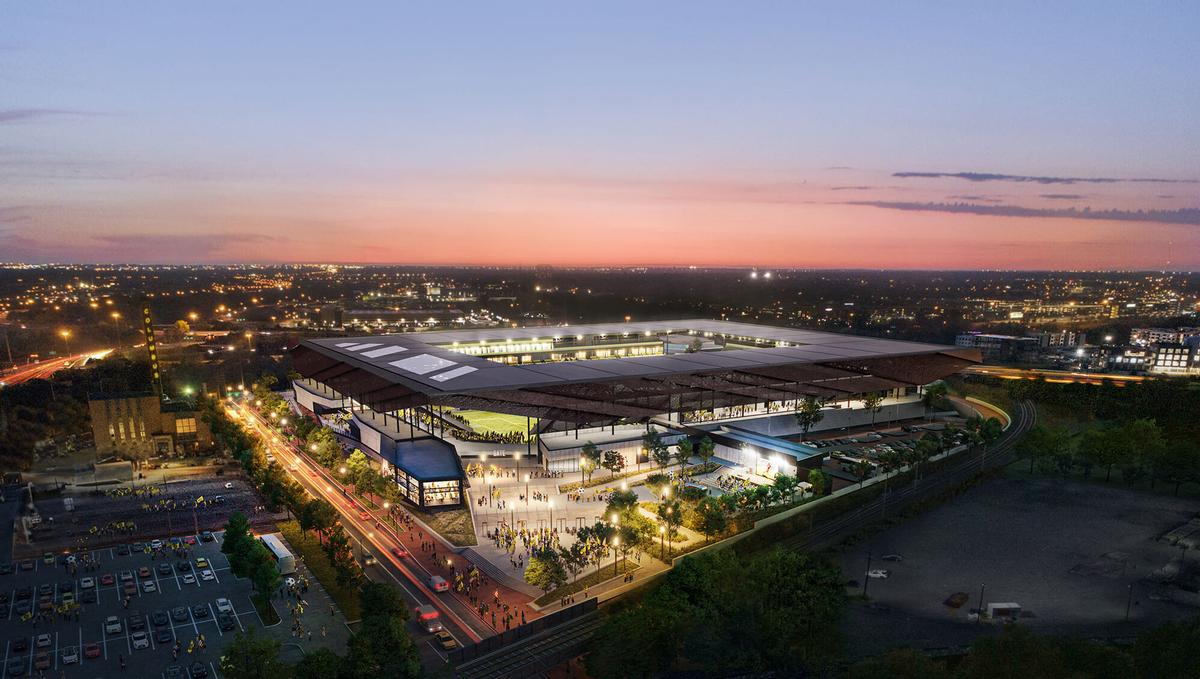 A concourse will provide access to a 40,000sq ft (3,700sq m) external plaza / HNTB