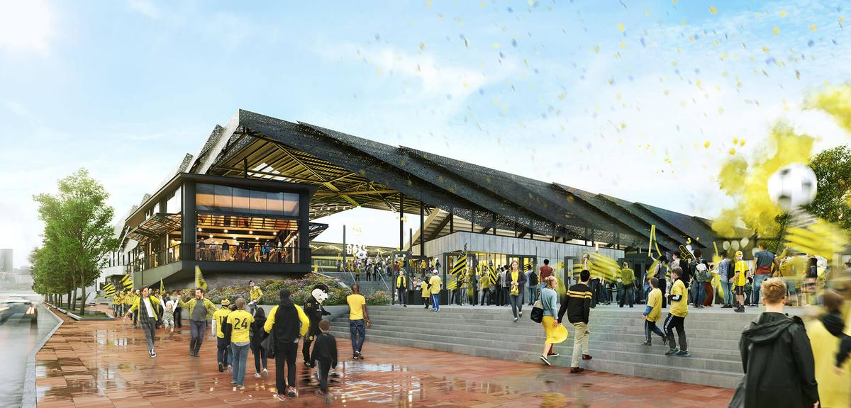 There will be public space outside the stadium / HNTB
