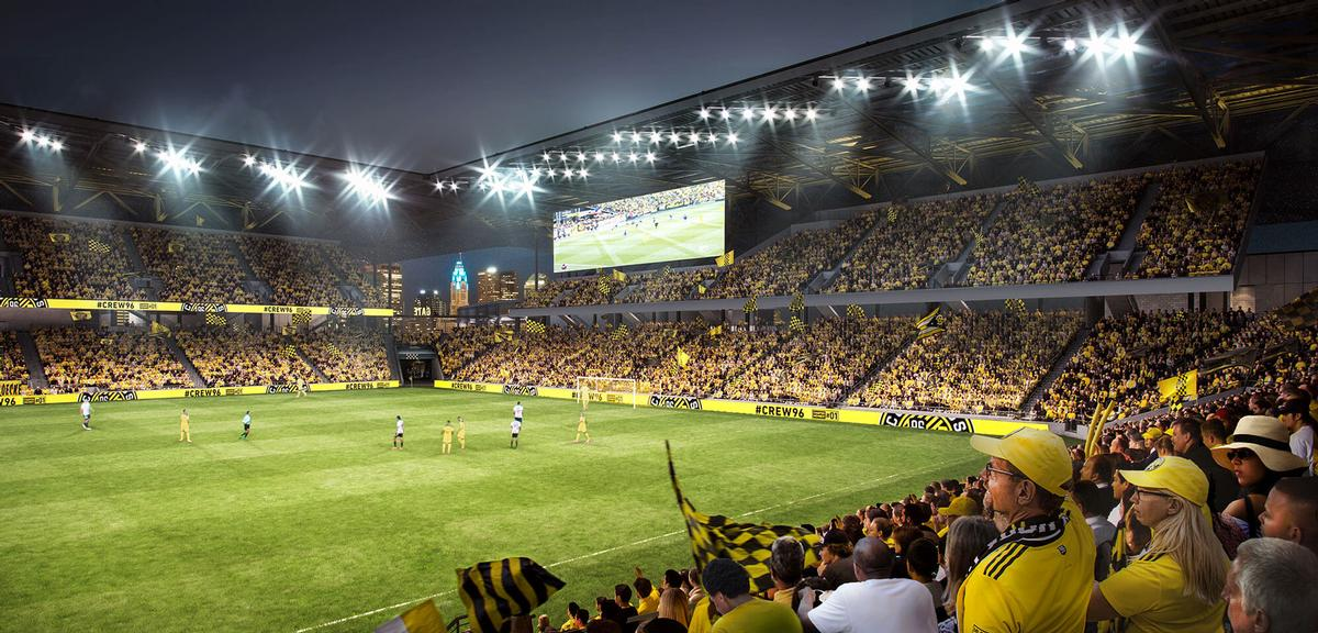 The stadium will have a capacity for 20,000 fans / HNTB