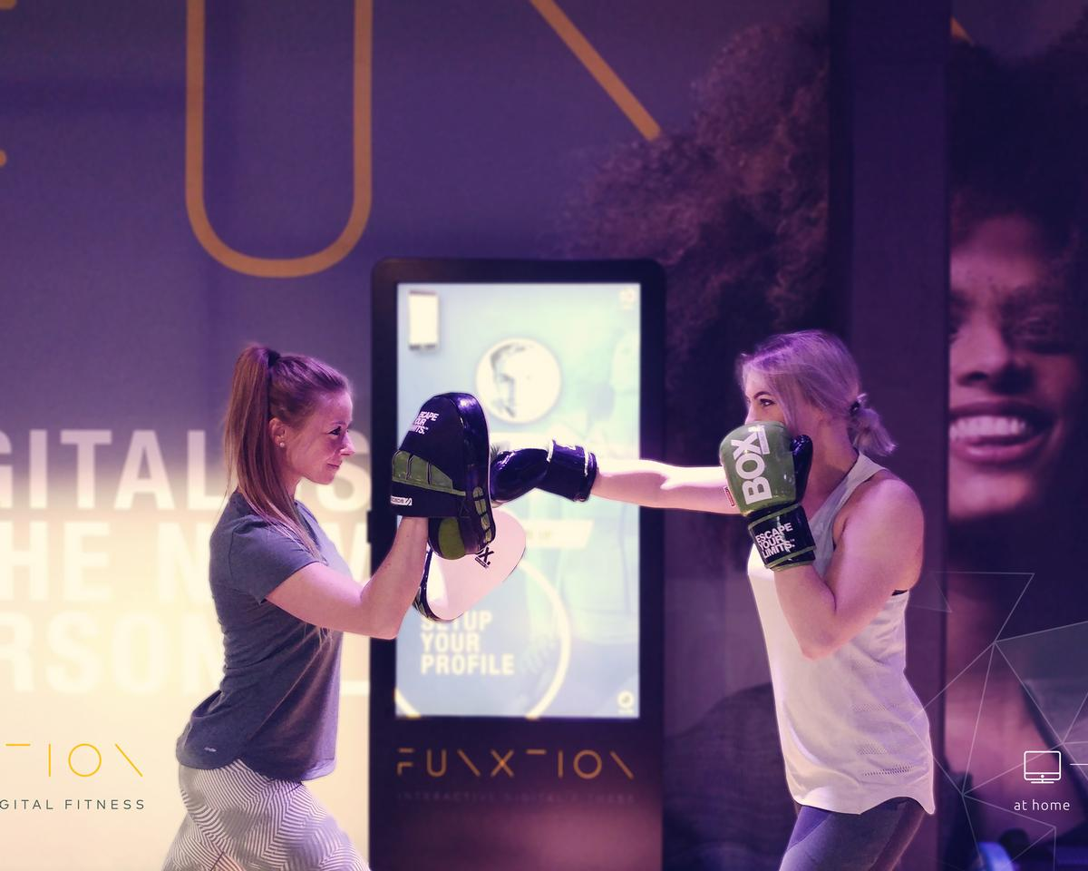 FunXtion's inclub interactive experience solutions deliver bespoke virtual classes, workouts, and exercises directly to the gym floor