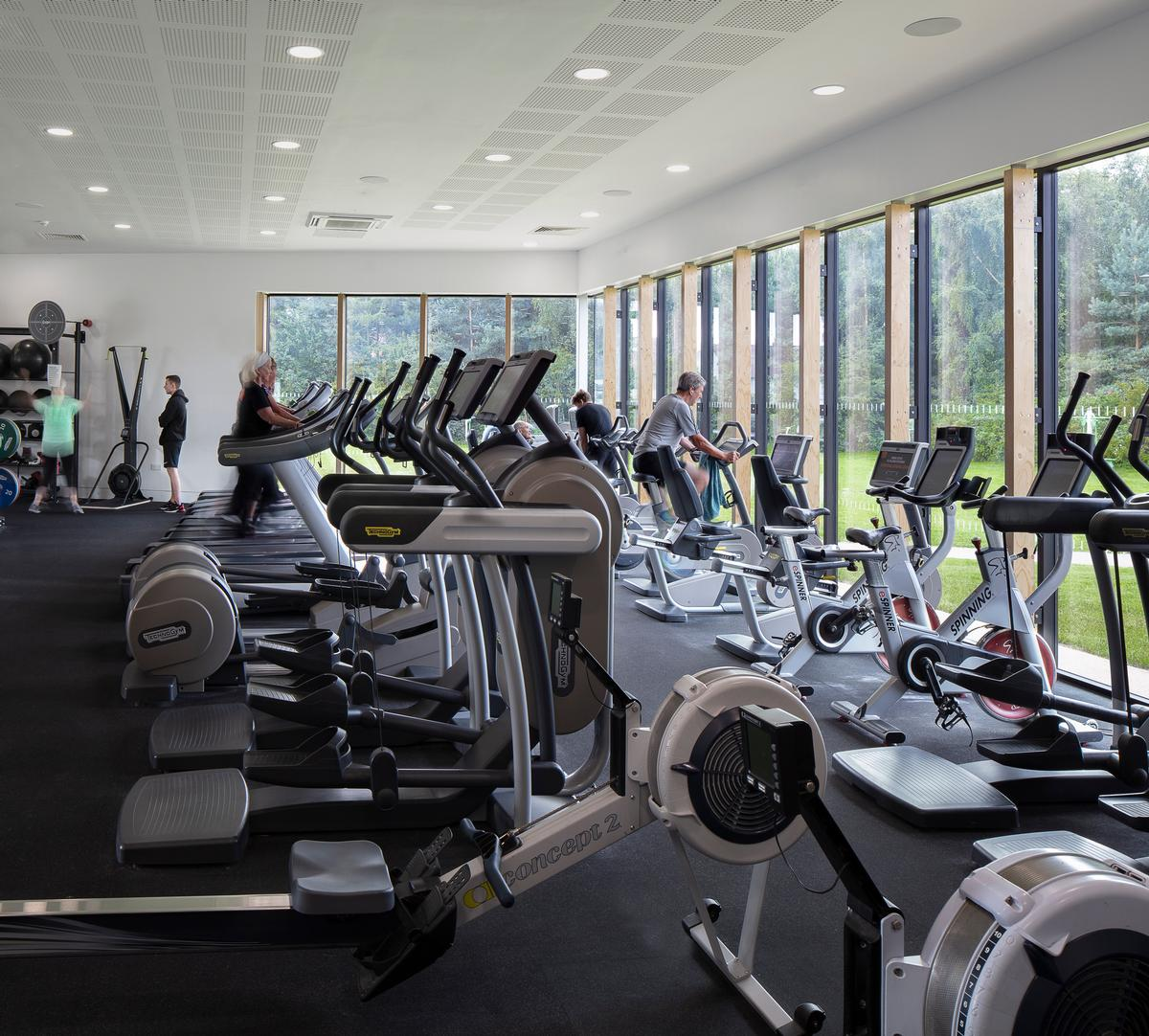Pozzoni added a 60-person fitness suite and converted the original fitness suite into a multi-purpose studio / Tamara Shiner