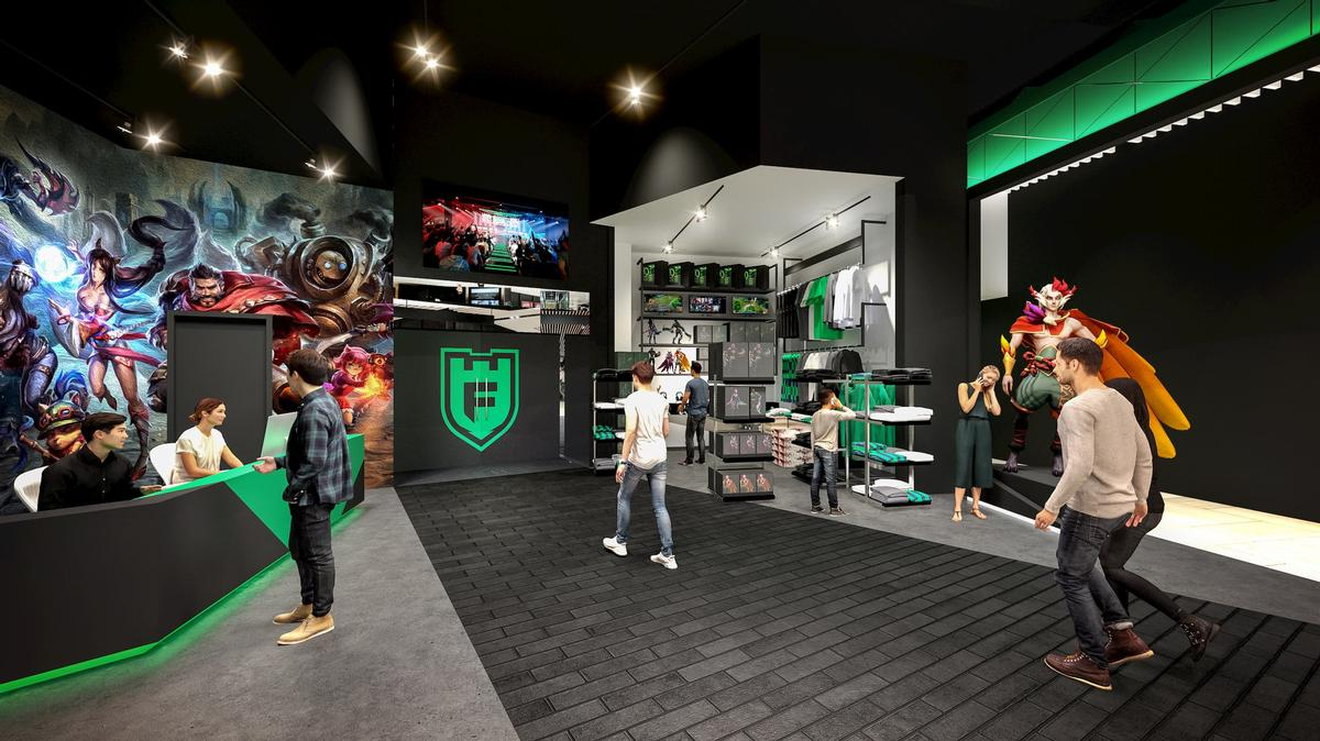 Visitors will be able to buy merchandise from a sales area / Populous