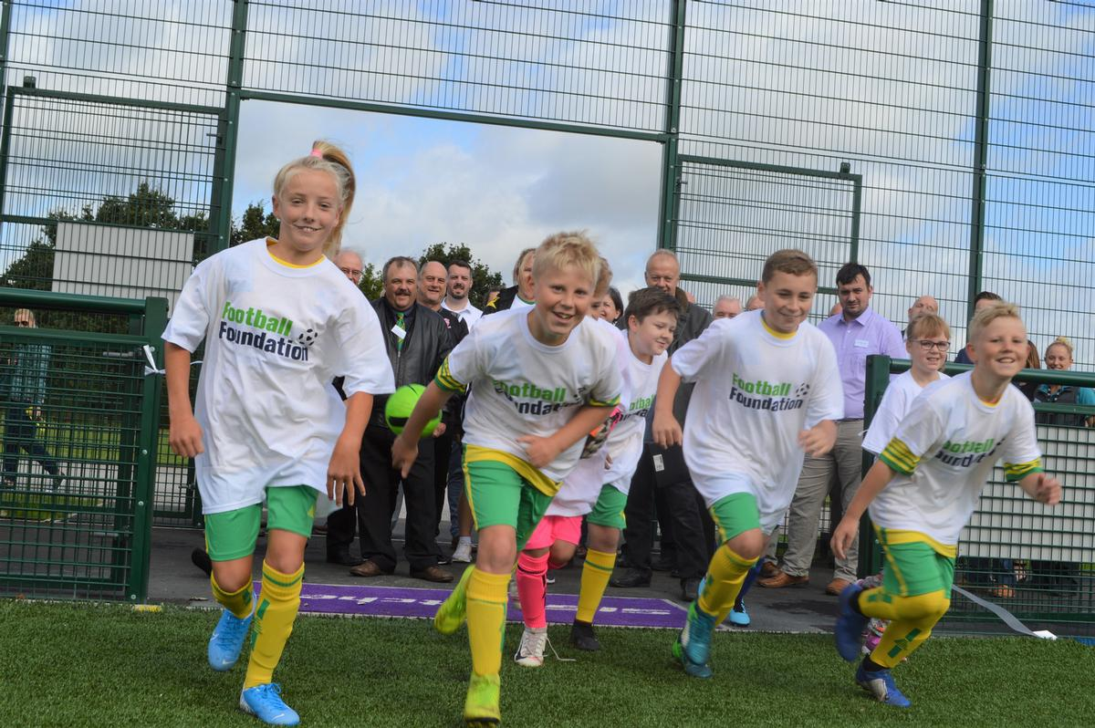 The project was part-funded by a £899,835 grant from the Football Foundation