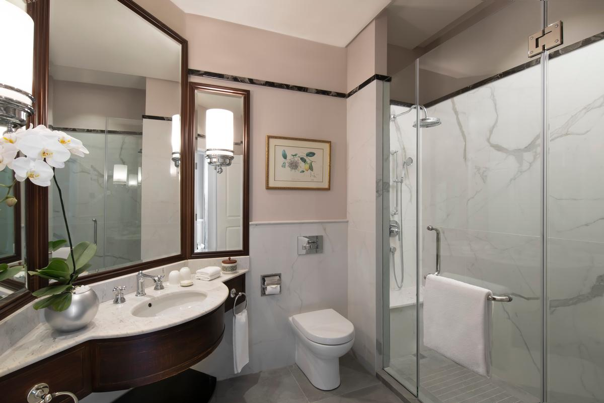 Bathrooms have been fitted with new Italian tiling / Accor