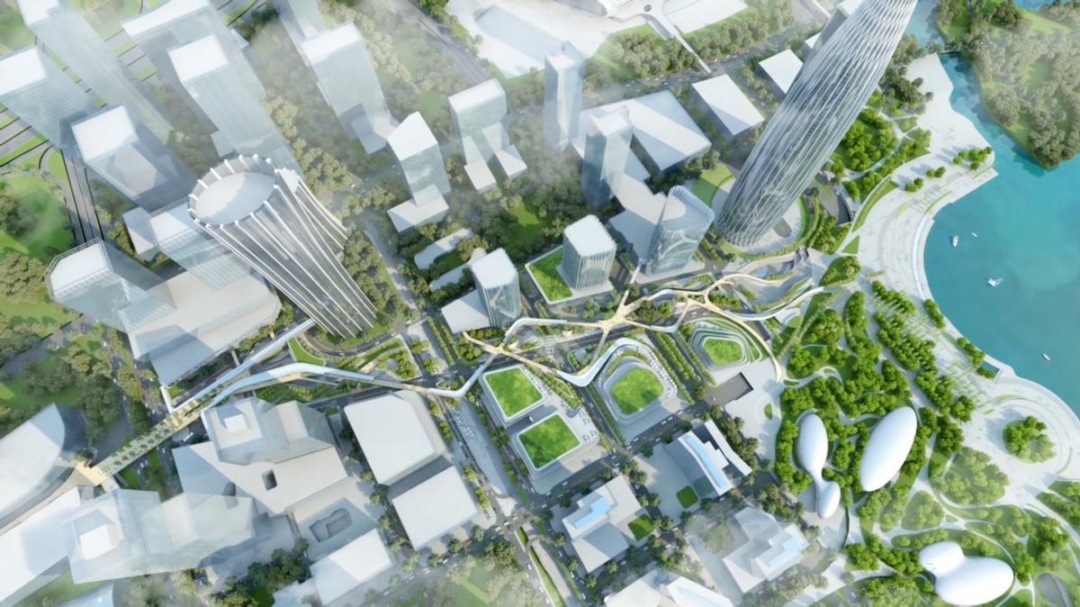 Shenzhen Bay Avenue by WilkinsonEyre and Morphis / WilkinsonEyre and Morphis