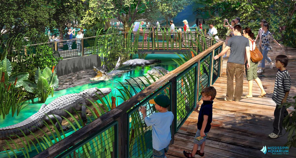 Alligators are among the animals that will be housed at the aquarium