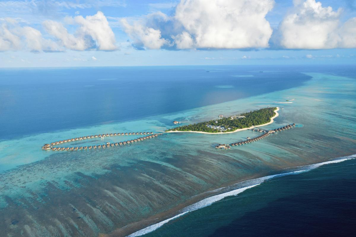 The resort is comprised of 122 villas, either beachside, overwater or underwater