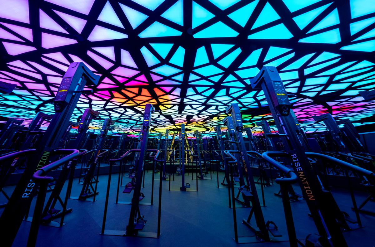 Cactus uses immersive lighting gym installations to boost workout performance
