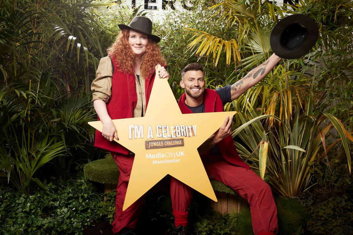 Former I'm A Celebrity… campmates Jake Quickenden and Jennie McAlpine break ground at the new Watergardens development in Manchester / ITV
