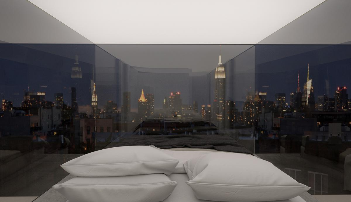 It gives guests the chance to experience the skylines of cities around the world / Ruslan Mannapov and Airat Zaidullin