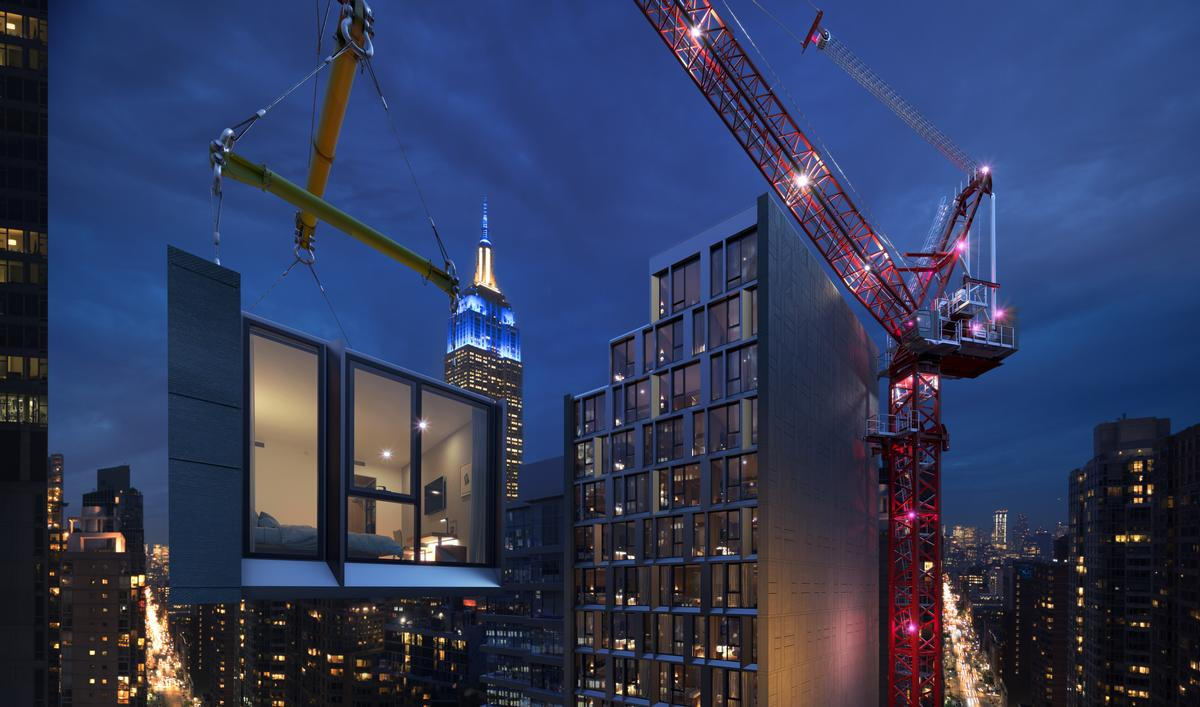 This Volumetric High-Rise Modular Hotel will be the world's tallest modular hotel / Danny Forster & Architecture