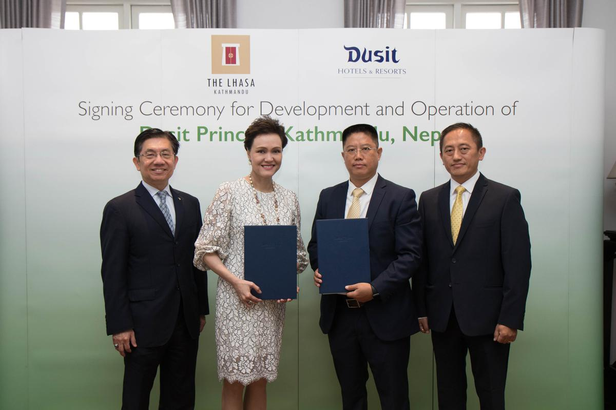 The official signing ceremony was held at Baan Dusit Thani Thailand.
