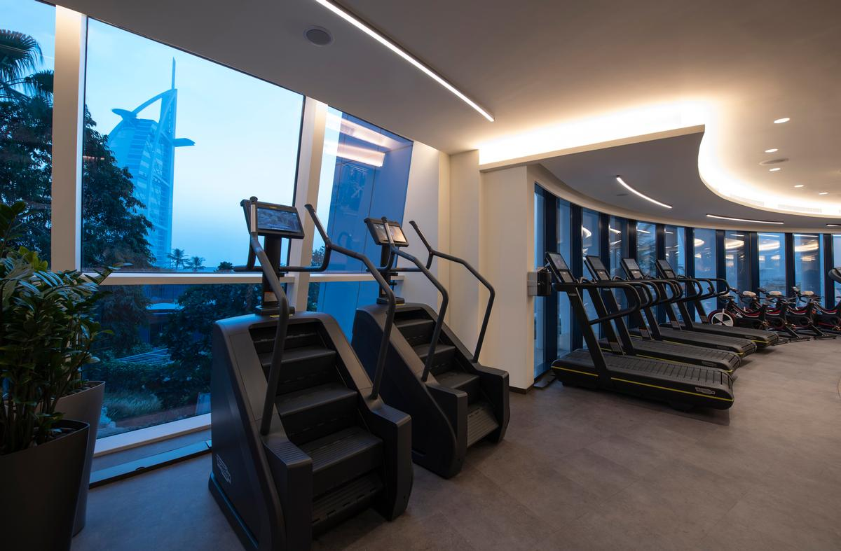 The fitness space is equipped by Technogym, Concept 2 and Keiser.