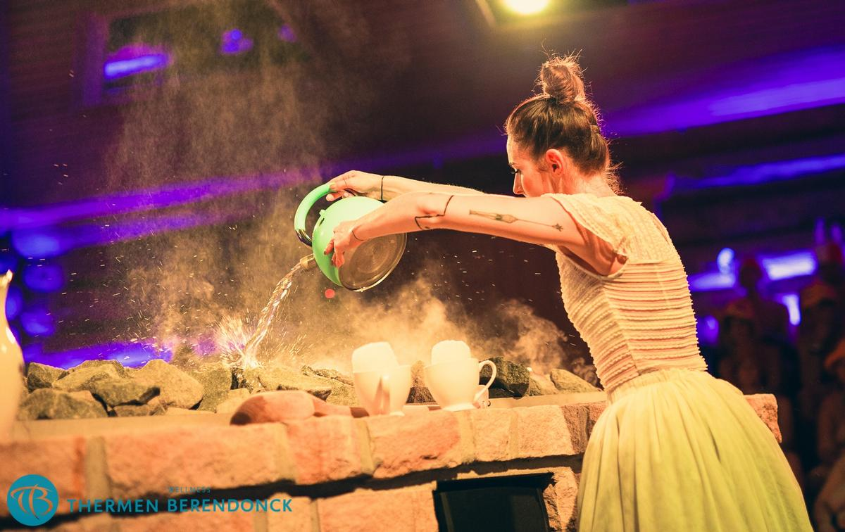 Aufguss is an entertaining, communal sauna ritual and the top sauna masters can get very creative, weaving in storylines, costumes, and complex movements to enhance the experience.