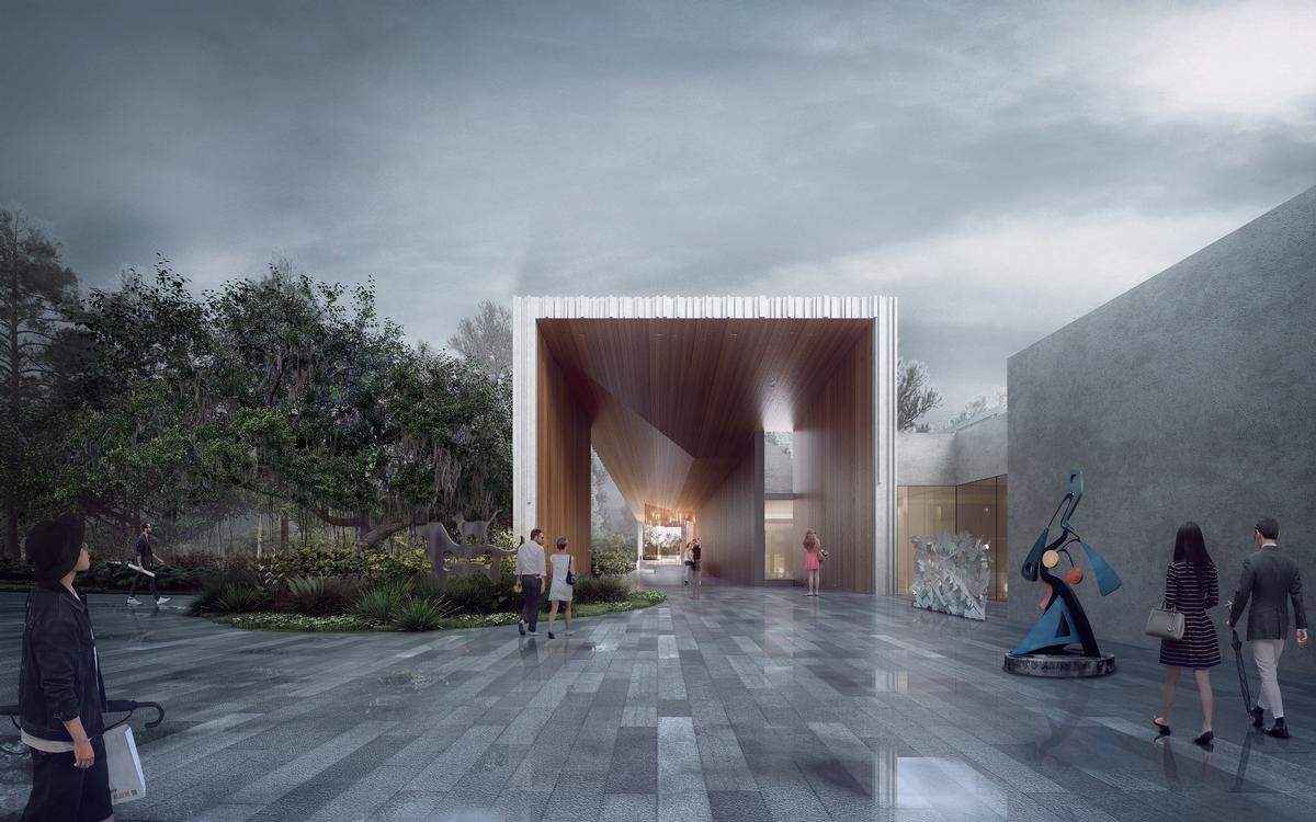 Pathways connect the building with different outdoor spaces / Brooks + Scarpa & KMF Architects