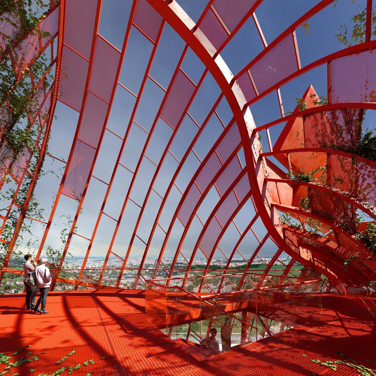 The observation deck will give visitors 360-degree views of Prague / Trigema