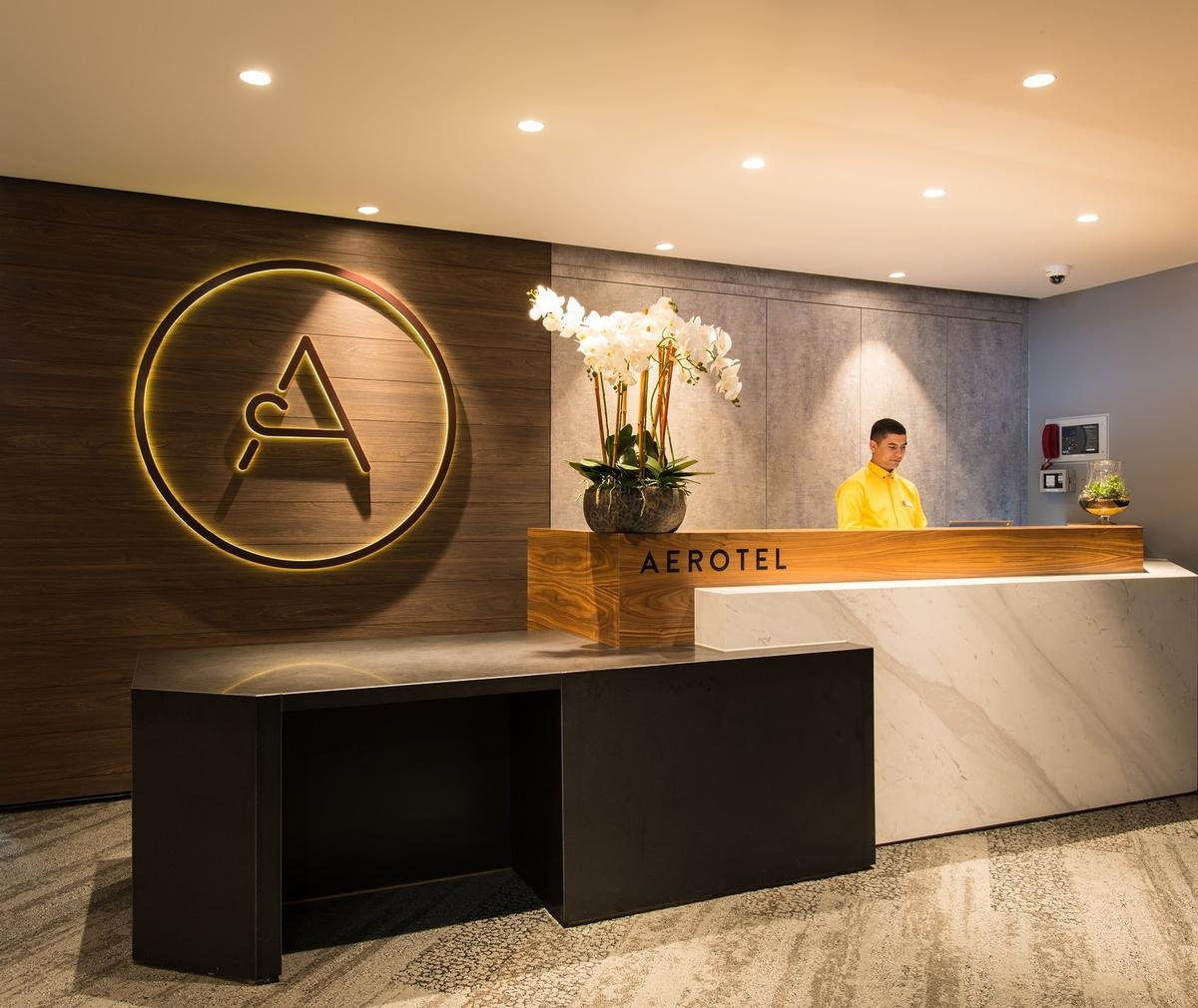 Aerotel London Heathrow is located 'steps away' from the check-in desks / Aerotel