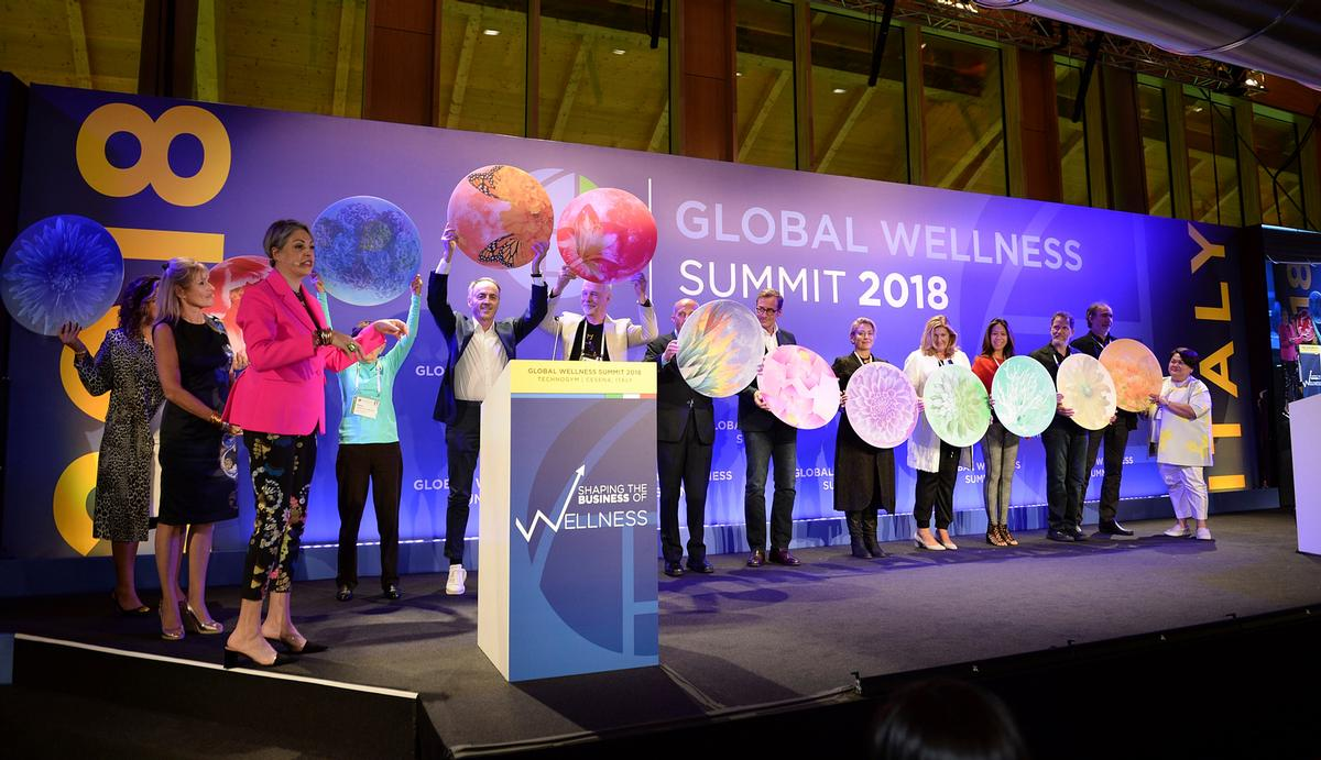 The Wellness Moonshot was launched at the 2018 GWI Global Wellness Summit. / GWI