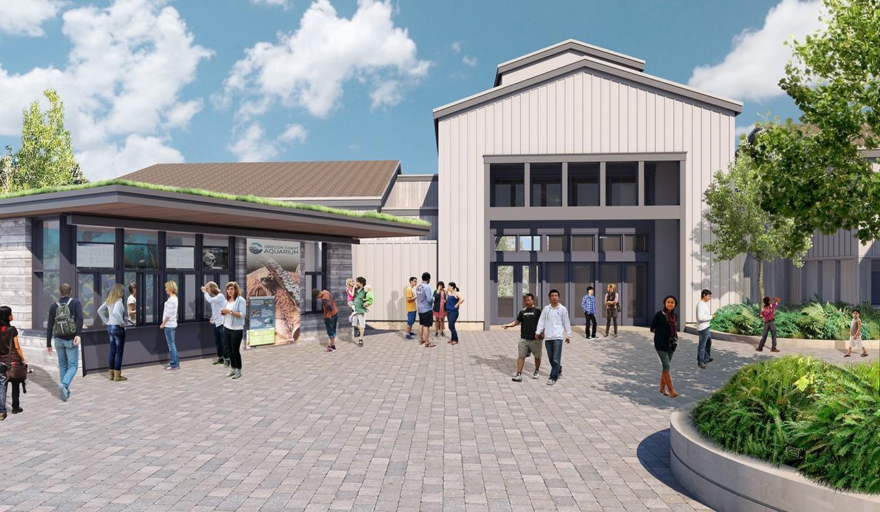A new ticketing booth will be built / Oregon Coast Aquarium