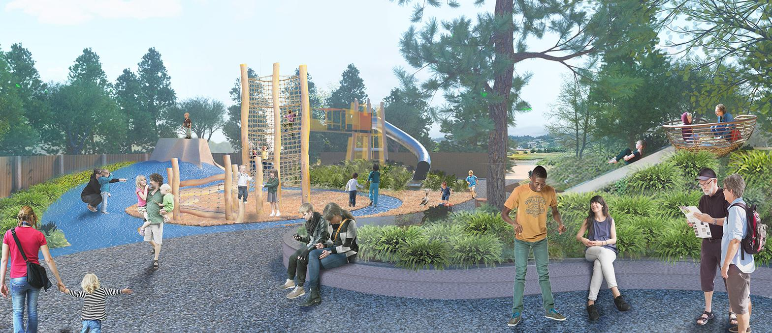A children's play area themed with Oregon coast ecosystems and heavily integrated with nature will also be built / Oregon Coast Aquarium