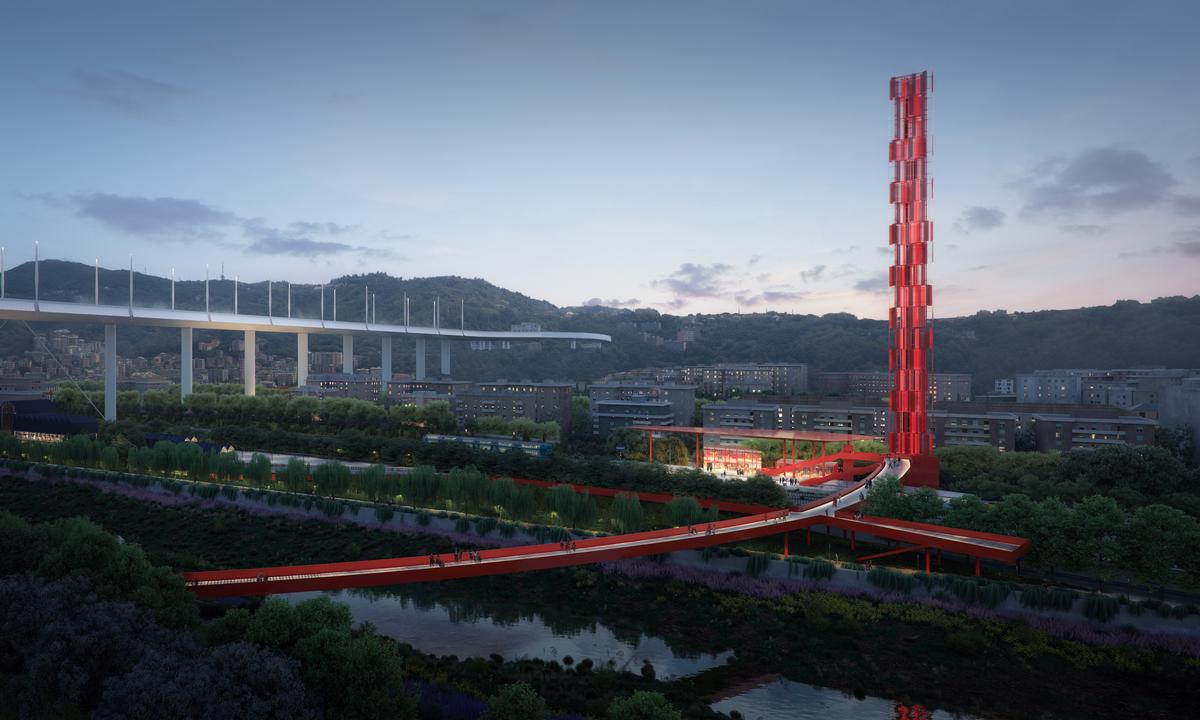 The Boeri-led project is called the Polcevera Park and The Red Circle / The Big Picture