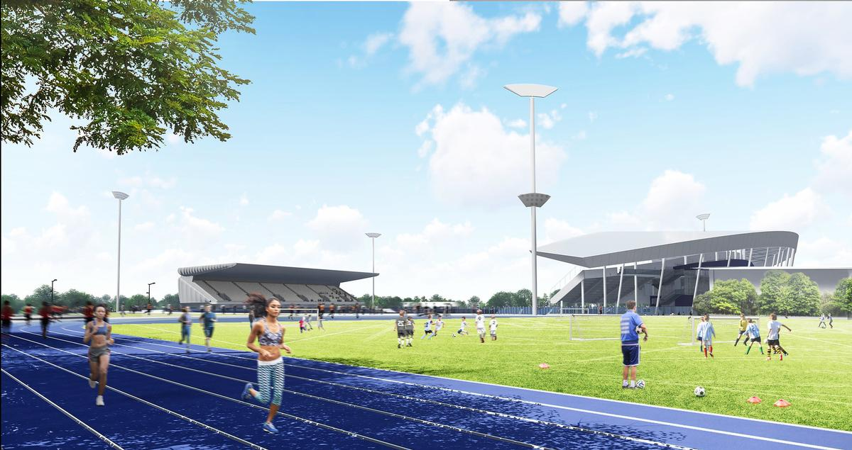 A new 400m, six-lane warm up track and a practice throwing field will be constructed / Birmingham City Council